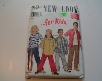 New Look Pattern 6023 for kids Child Knit Top Shirt and Pull on Pants