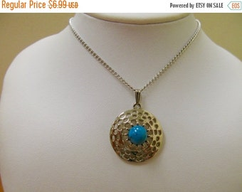 ON SALE SARAH Coventry Faux Turquoise Necklace Item K # 3064