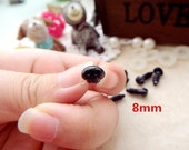 8mm Black Plastic Nose Stuffed Animals Noses Amigurumi Safety Noses Dog Nose - black - 10 pcs