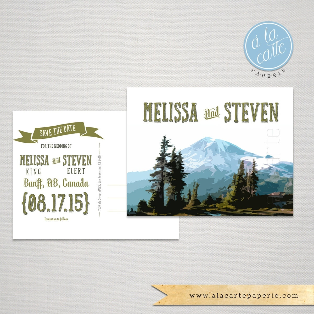 mountain destination wedding invitations - 28 images - printable 5x7 ...