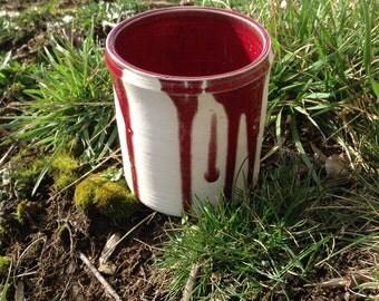 Crime Scene Red Drippy Glazed Vase