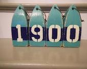 Custom Vintage style Wooden  Buoy with Painted Numbers Custom Orders taken
