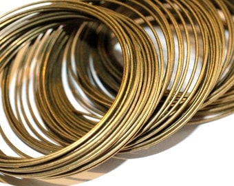 10 loop Memory Wire Brass Wire  Bracelet/Necklace Wire 1.0mm