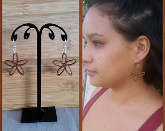 Koa Flower earring