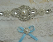 Wedding Garter Set, Bridal Garter, Ivory Lace Garter, Vintage Lace Garter
