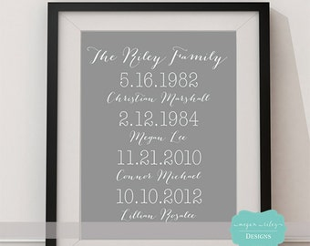What a Difference a Day Makes Custom Printable, Important dates, Adoption Days, Graduations, Printable