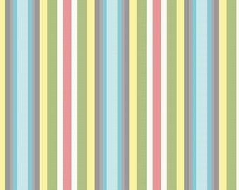End of bolt - SALE! Priscilla Stripe Fabric by Riley Blake