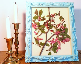 Vibrant Branches Pressed Flower Art