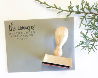 Custom address stamp - calligraphy address stamp - personalized address stamp - hand lettered address stamp return address stamp - A0312