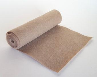 SALE 5x36 Taupe Wool Blend Felt Roll