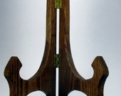 Solid Oak Plate Display Stand Easel
