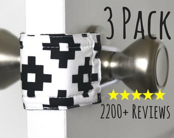 Sleepy Southwest (3 PACK) handmade nursery gift, baby room decor, door knob stopper, cotton, padded, door cushion, door guard LATCHY CATCHY