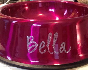 Large Personalized Dog Bowls, for dogs 35-70 lbs