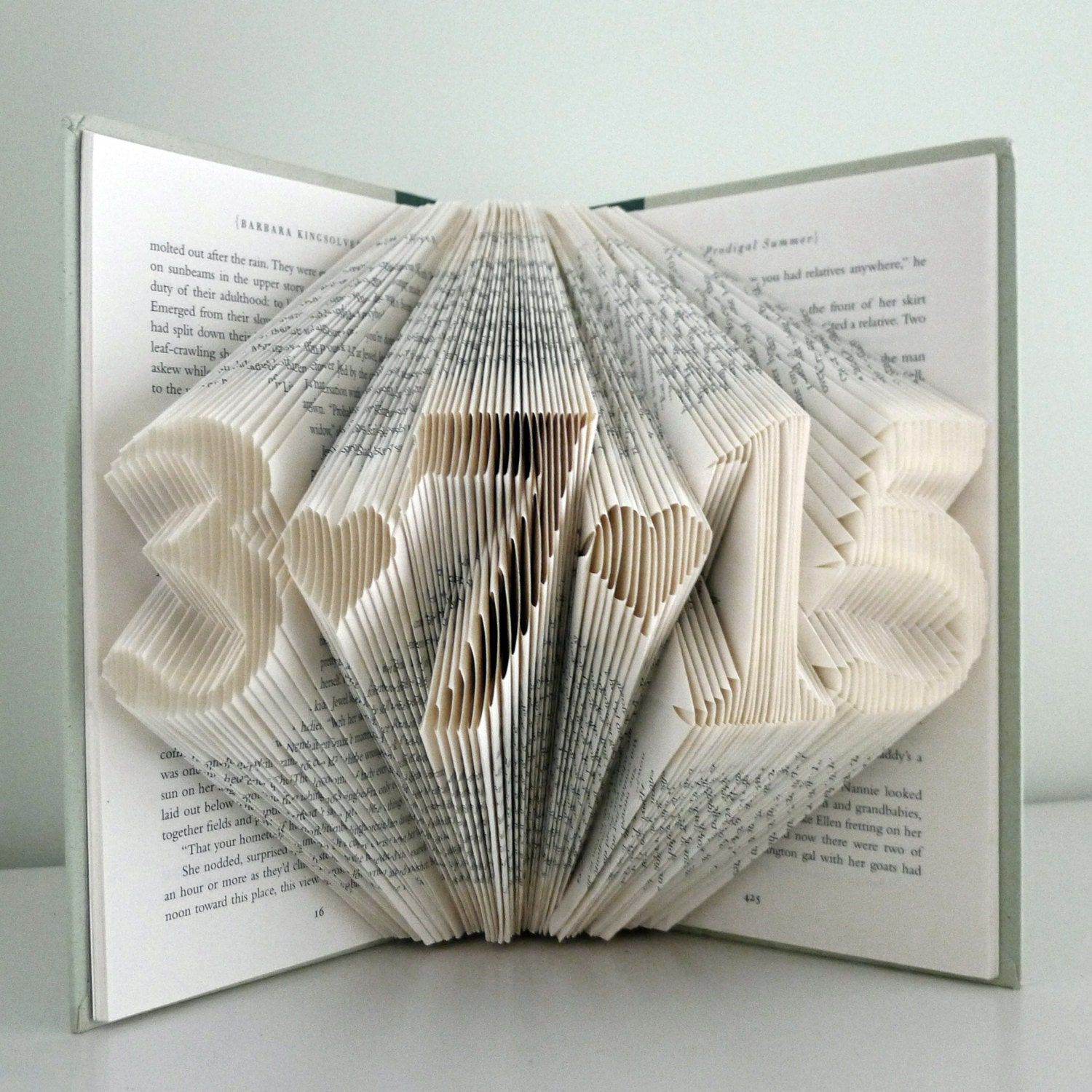 folded book art anniversary gift for him her wedding. Black Bedroom Furniture Sets. Home Design Ideas
