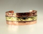 Men's Copper Cuff, Gift for Him, Mens Bracelet, Copper and Brass Cuff