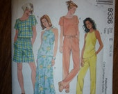 Easy McCall's Pattern 9336 for Misses' Tops, Pull-On Bias Skirt, Pull-On Pants or Shorts  Sizes 14-16-18