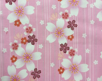 "Sakura Cotton Fabric - Remnant - 11"" x 43"""