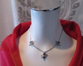 Vintage  Necklace Mexican Liquid Silver with Thunderbird's small size /childs