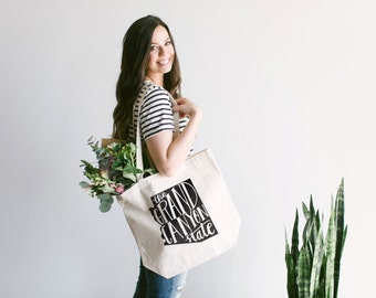 ARIZONA Hand Lettered Tote Bag Design • The Grand Canyon State Typographic Cotton Canvas Tote Bag • Hand Printed Arizona Tote FREE SHIPPING