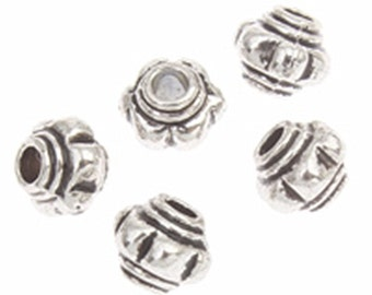 50pc 4mm antique silver finish cubic metal bead-8380F