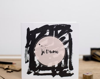 Je t'aime - I Love You - Luxury greeting card