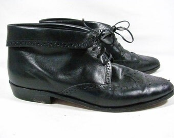Brogue Pixie Ankle Boot Women Size 7 Black