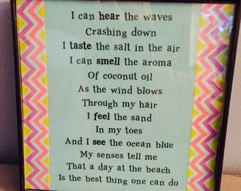 Framed Beach Poem