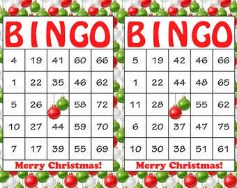 Holiday bingo | Etsy