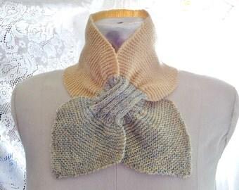 Vintage Knit Collar Neck Scarf