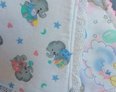 Reserved for Nancy Made to order cute little Baby Burp Pads Set of Two