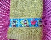 hand towel, sponge bob
