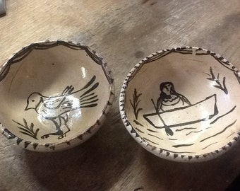 Two Vintage Mexican Bowls