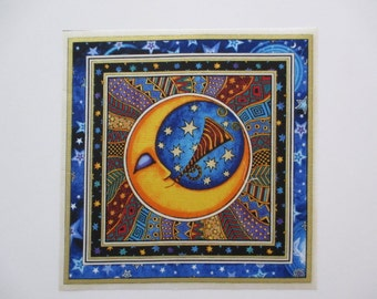 "Celestial Sun Moon 8"" Iron On Patch"