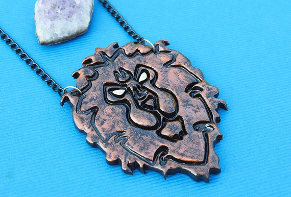 alliance world of warcraft necklace handmade by