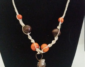 Tiger-eye Hemp Necklace
