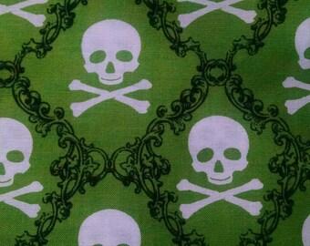 Skull Damask Fabric