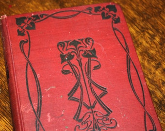 The Data of Ethics by Herbert Spencer, Antique Book, Vintage Book, Red Book, Red and Black, Art Nouveau, Red Decor, Antique Ethics