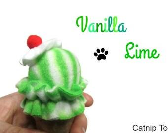 Cat Toy - Catnip Ice Cream Cone Cat Toy - Vanilla Lime