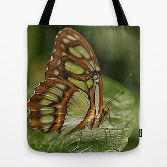 Malachite Butterfly Photo Tote Bag, Everyday Tote, Tote Bag, Tote, Photography, Butterflies, Teacher Gift, Unique Gift, School Bag, Gifts