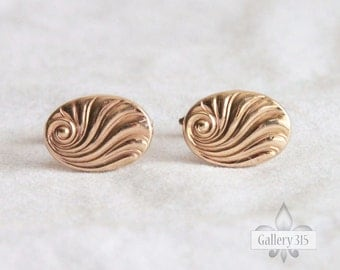 Vintage Gold Filled Cufflinks by La Mode - 1/20 10K Gold Scrollwork Toggle Back Cuff Links Lamode