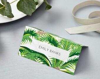 Tropical Design Wedding Place Cards