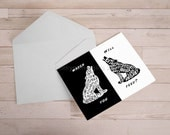 Two Wolves greeting cards - 5 Custom order for cbrown0532