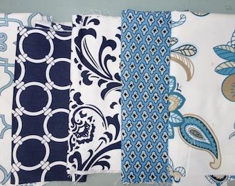 Remnant/Scrap Fabric - Blue, navy fabric