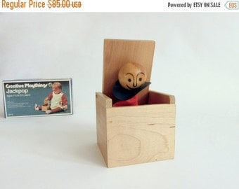 Half Price SALE Creative Playthings Jackpop. Mid Century Toy. Toddler. Puppet. Jack-in-the-Box. NIB. USA