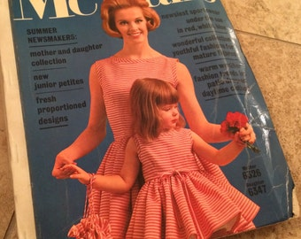 Vintage 1960's McCall's Sewing Pattern Counter Catalog Book - May 1962- Beautiful Fashion Illustration