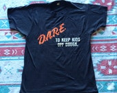 Vintage D.A.R.E. To Keep Kids Off Drugs Super Soft and Thin T-Shirt