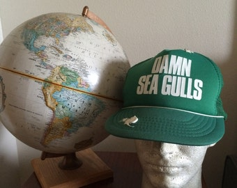 "Vintage Damn Seagulls Mesh Back Trucker Hat with ""Poop"""