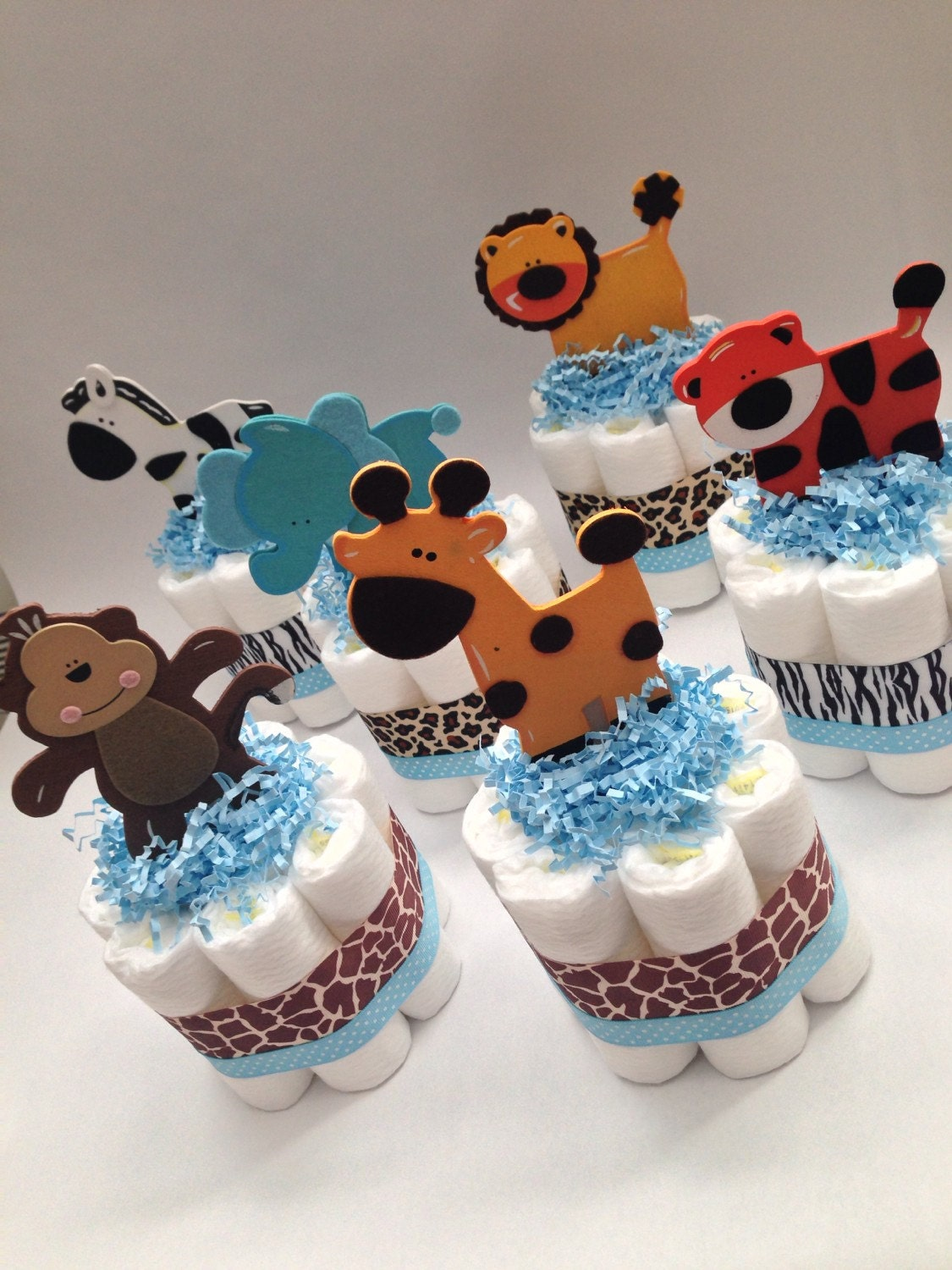 six safari diaper cakes jungle diaper cakes baby shower