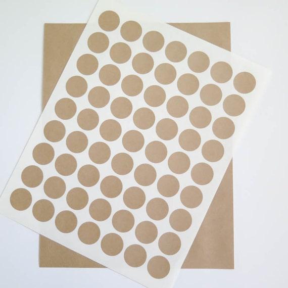 Round Wedding Invitation Label 1: Kraft Labels 1 Inch Round Labels Brown Kraft Stickers Ink