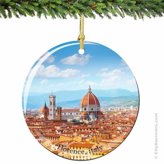 Florence Christmas Ornament Porcelain Italian By CitySouvenirs